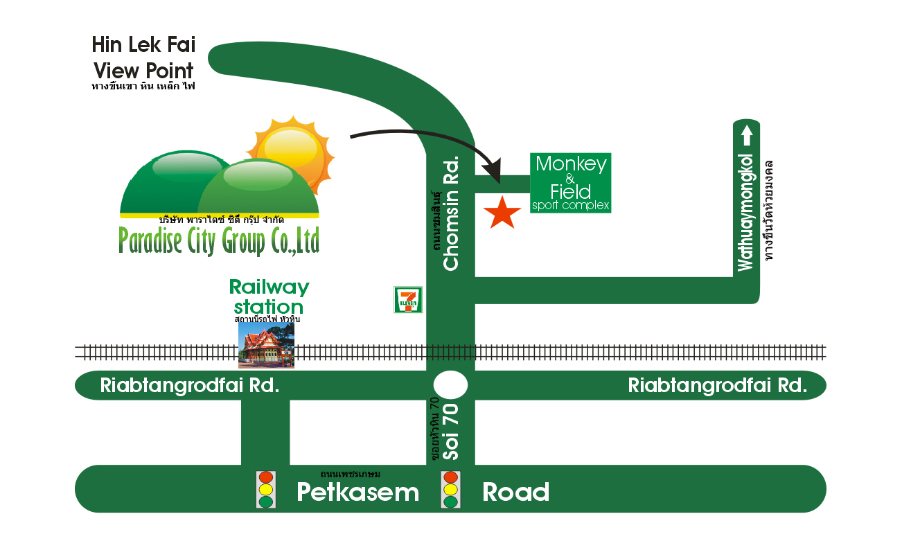 Hua Hin Paradise City Group Office Map